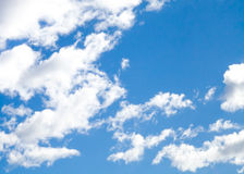 Semi-circle of Fair Weather Cumulus humilis Clouds Stock Images