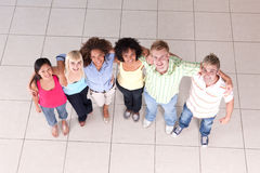 Semi-circle of friends stock image