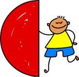 Semi circle kid Royalty Free Stock Images