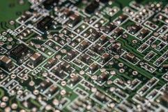 Semi-conducteur de panneau de carte PCB image stock