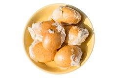 Semi del Durian isolati su fondo bianco Immagine Stock