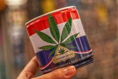 Semi della cannabis in barattolo Fotografie Stock