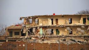 Semi-demolised house Stock Photography
