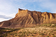 Semi-desert Bardenas Reales, eroded mountains, Natural Park and Royalty Free Stock Photos