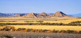 Semi-desert landscape of bardenas reales natural park Stock Image