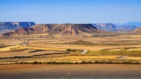 Semi-desert landscape of Navarra Stock Image
