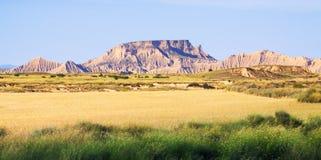 Semi-desert landscape of Navarra Stock Photo