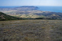 Semi-desert landscape on the shores of the Black Sea. Crimea. Stock Images