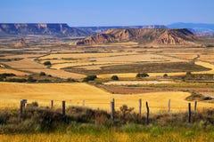 Semi-desert landscape in summer. Navarra Stock Image