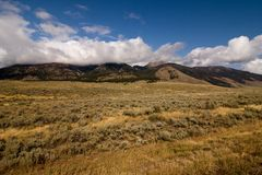 Semi desert and mountains. In Montana, USA Royalty Free Stock Image