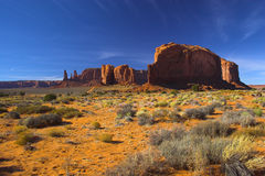 Semi-desert and the red rock Royalty Free Stock Image