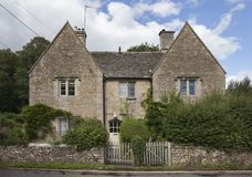 Semi-detached cottage, Cotswolds royalty free stock photography