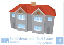 Semi detached house Stock Photo