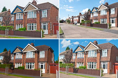 Semi detached house Royalty Free Stock Images