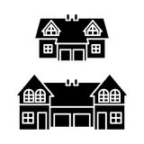 Semi-detached house icon, vector illustration. On white background vector illustration