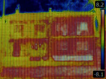 Semi Detached House Infrared Royalty Free Stock Photo