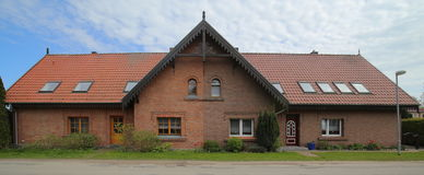 Semi detached house listed as monument in Germany Stock Images