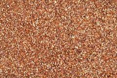 Semi di lino a terra - priorità bassa Fotografia Stock