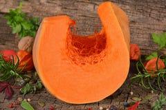 Semi di zucca crudi di autunno Immagini Stock Libere da Diritti