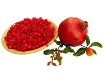 Semi e frutta del melograno Fotografia Stock