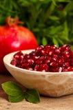 Semi e frutta della granatina fotografie stock