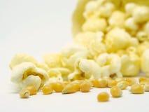 Semi e popcorn del cereale Fotografia Stock