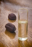 Semi ed olio del jojoba (Simmondsia chinensis) Immagini Stock