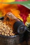 Semi ed olio di fieno greco fotografia stock