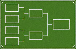 Semi final. Chart on green background Stock Photo