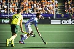 Semi-finals Autralia beats Argentina Stock Photos