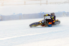 The semi-finals of the Russian championship in Ufa on a speedway  the ice in December 2016 Stock Photo