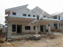 Semi Finished House Building at Construction Site Stock Photography