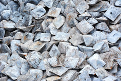 Semi-finished pig iron. Close up of semi-finished pig iron, ready for shipment royalty free stock image