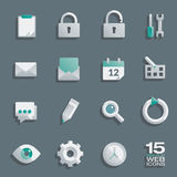 Semi flat web icons set Royalty Free Stock Photos