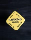 Semi freno de estacionamiento fotografía de archivo