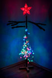 Semi-geklede Kerstboom Stock Afbeelding