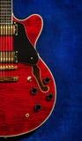 Semi-Hollow Guitar Stock Photo
