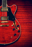 Semi-Hollow Guitar Stock Photography