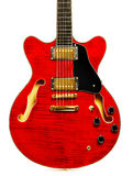 Semi-Hollow Guitar Royalty Free Stock Images