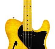 Semi-Hollow Guitar Stock Photography