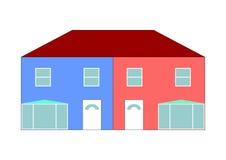 Semi house illustration Royalty Free Stock Photography