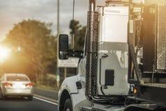 Semi kierowca ciężarówki praca Obraz Stock