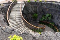 Semi kurenda kamienny schody obrazy royalty free
