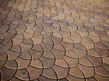Semi ladrillo del piso del círculo imagen de archivo