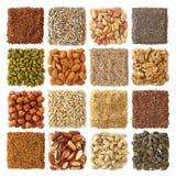 Semi oleaginosi ed accumulazione nuts Fotografia Stock