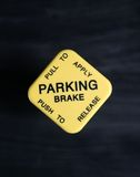 Semi parking brake stock photography