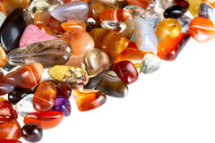 Semi-precious gems. Used in alternative medecine and crystal healing. More pics in portfolio royalty free stock photo