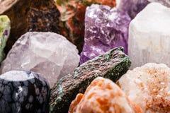 Semi-precious gems closeup Stock Image
