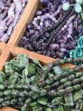 Semi precious gemstone beads Royalty Free Stock Photos