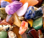 Semi precious gemstones Royalty Free Stock Photo